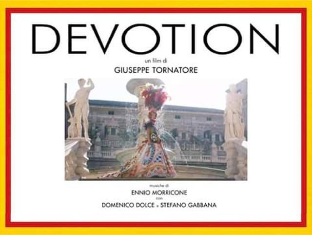 DEVOTION di Tornatore. A Taormina l'amore di D&G per la Sicilia