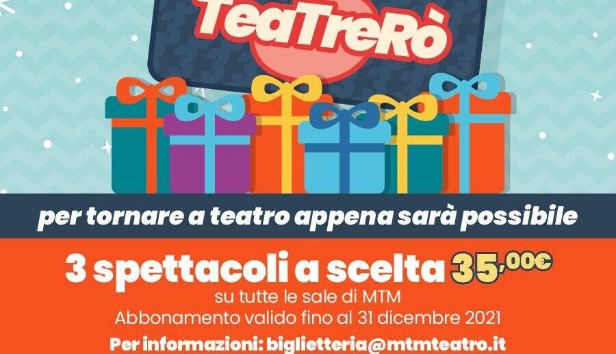 TeaTreRò, la card di MTM da regalare a Natale a chi ama il teatro