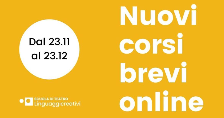 I corsi brevi online di Teatro Linguaggicreativi di Milano