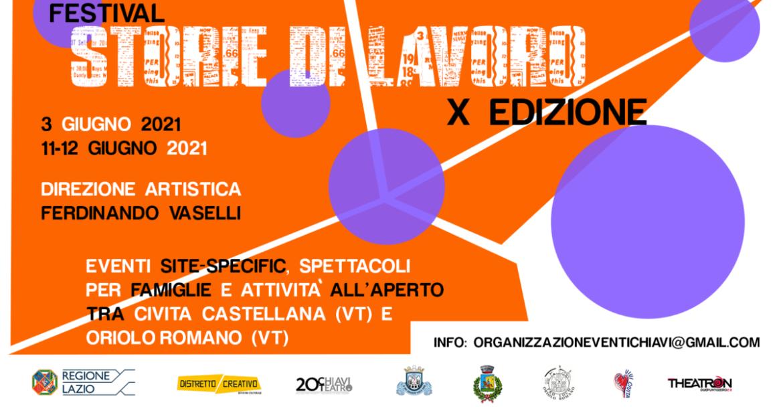 FESTIVAL STORIE DI LAVORO torna a Viterbo ad animare l'estate 2021