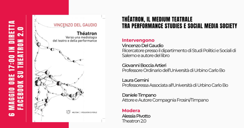 Théatron, il libro sul teatro di Del Gaudio, per Theatron 2.0