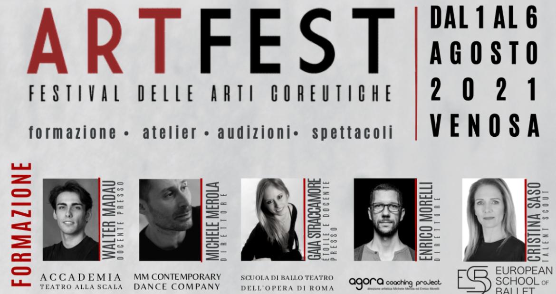 ARTFEST – Festival delle arti coreutiche, in Basilicata dal 1 al 6 agosto