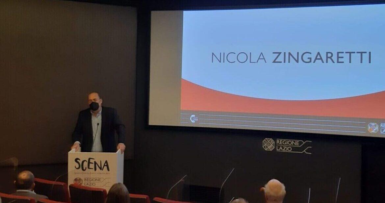 SCENA. Zingaretti inaugura a Roma il progetto nei locali Ex Film Studio