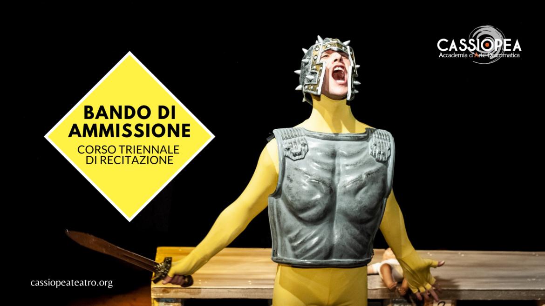 Apre il Bando per l'Accademia d'Arte drammatica Cassiopea