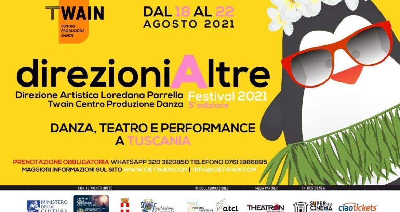 direzioniAltre Festival 2021, la V edizione a Tuscania (VT), dal 18 al 22 agosto